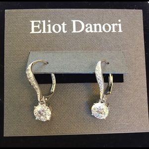 Eliot Danori crystal round drop earrings